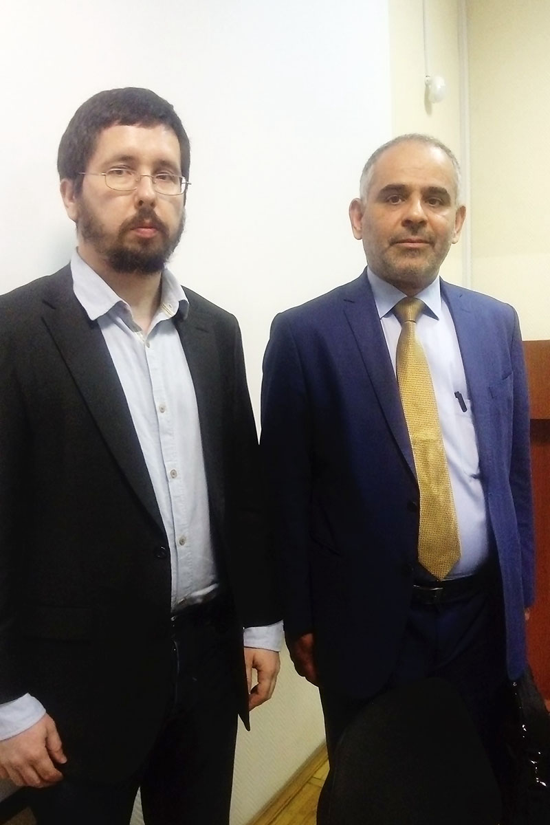 "Michael Chernov, an initiator of the project ""Middle East - Northern Caucasus"" with Saleh Mohammad al-Khathlan, a professor and a member of the Consultative Council in Saudi Arabia"